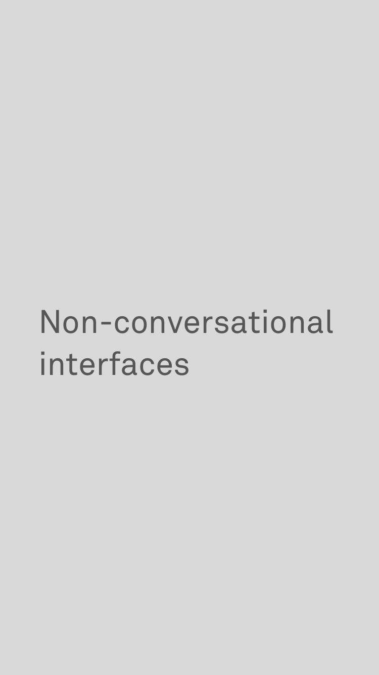 non-conversational